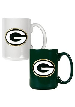 NFL Green Bay Packers 15oz. Ceramic Mug Gift Set