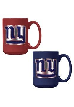 NFL New York Giants 15oz. Ceramic Mug Gift Set