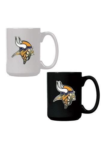 NFL Minnesota Vikings 15oz. Ceramic Mug Gift Set