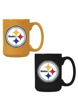 NFL Pittsburgh Steelers 15oz. Ceramic Mug Gift Set