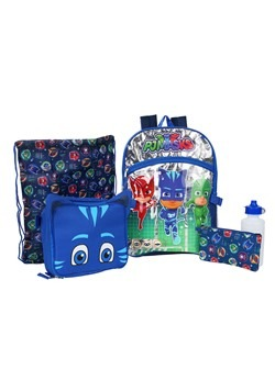 "Kids PJ Masks 16"" Backpack- 5 Piece Set"