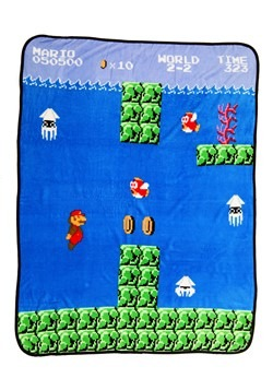 Super Mario Brother Coral Fleece Throw
