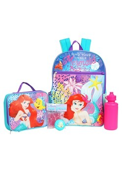 Kids Ariel 5 PC Backpack Set