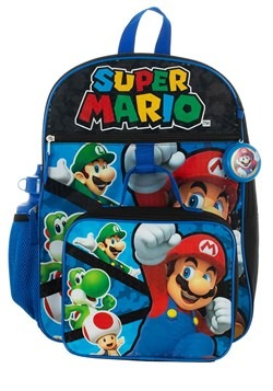 Kids Super Mario 5 PC Backpack Set