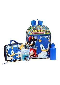 Kids Sonic 5 PC Backpack Set