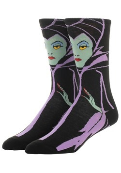 Disney Villains Maleficent 360 Character Adult Crew Socks