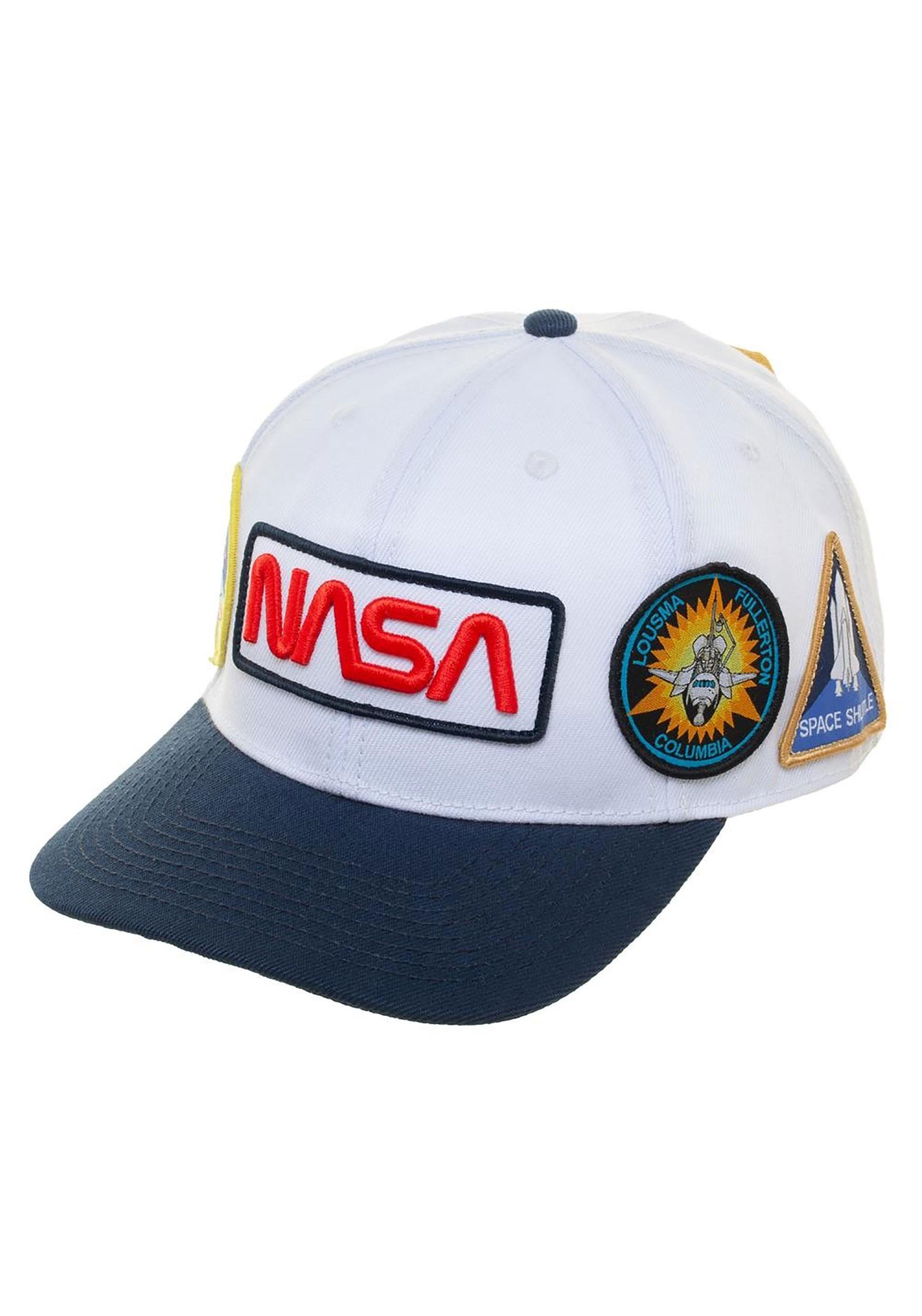 Blue Denim Snapback Rocket Ship NASA Trucker Hat by LET/'S BE IRIE Space Craft
