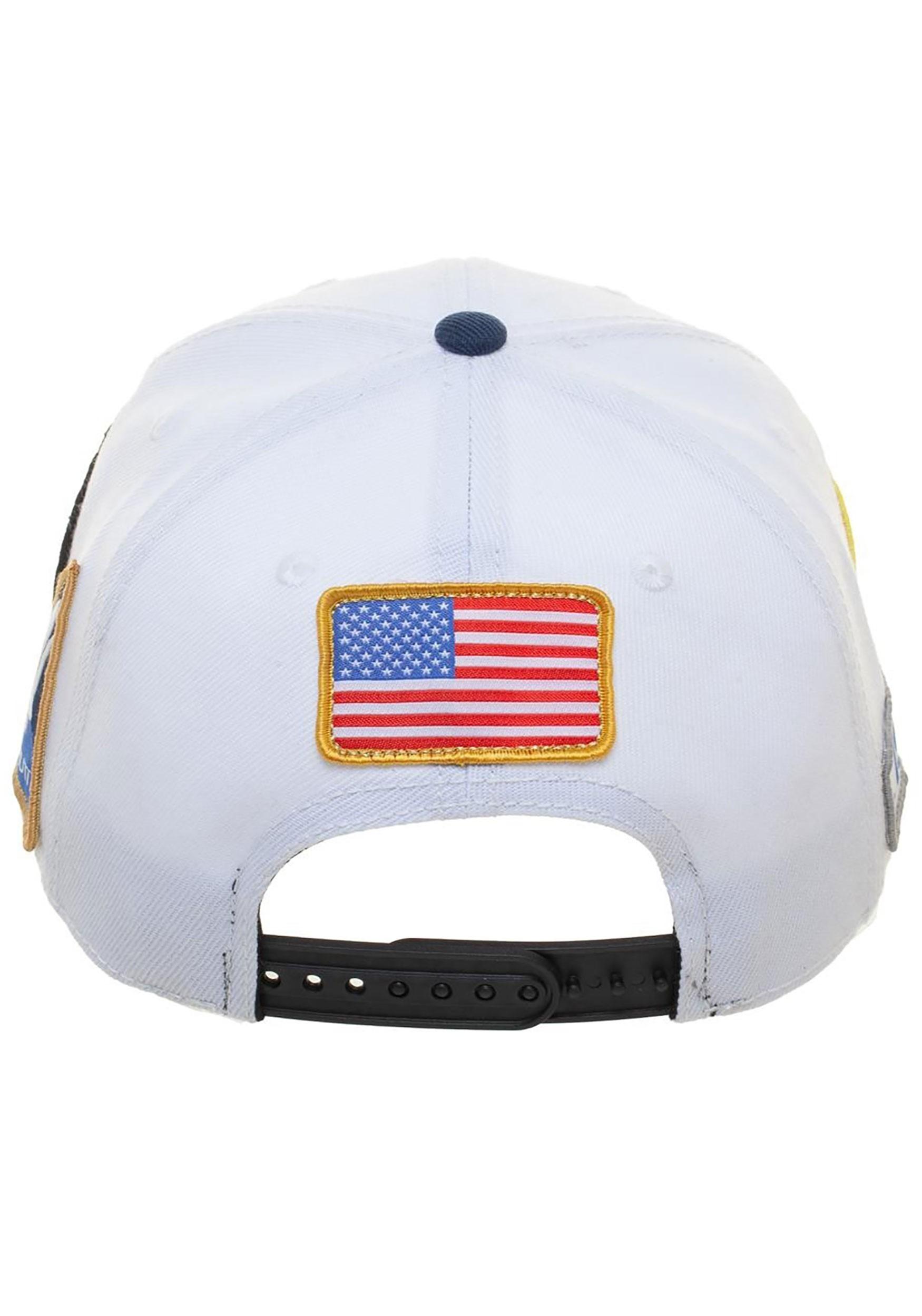 f5d09ad02 Multi Patch Pre-Curved Bill Snapback NASA Hat