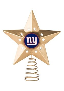 Metal New York Giants Christmas Tree Topper