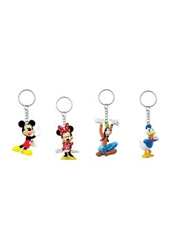 Mickey & Friends Figural Keyring 4 Pack Set
