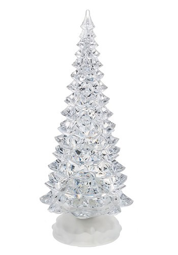 Large Light Up Swirling Glitter Christmas Tree Decoration