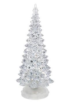 Large Christmas Light Up Swirling Glitter Tree Dec