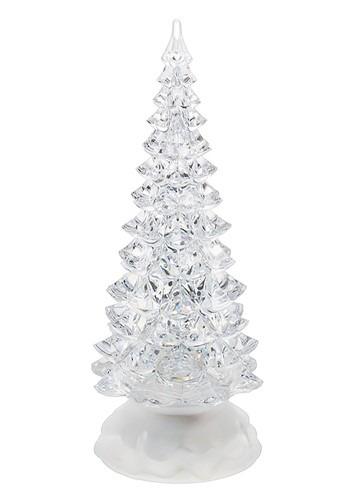 Small Light Up Swirling Glitter Christmas Tree Decoration