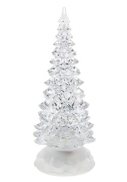 Small Christmas Light Up Swirling Glitter Tree Dec