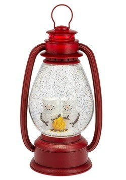 Lighted LED Shimmer S'mores Lantern Christmas Deco