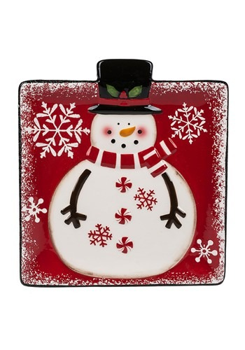 Snowman Snack Plate