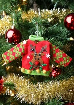 Reindeer Ugly Sweater Ornament