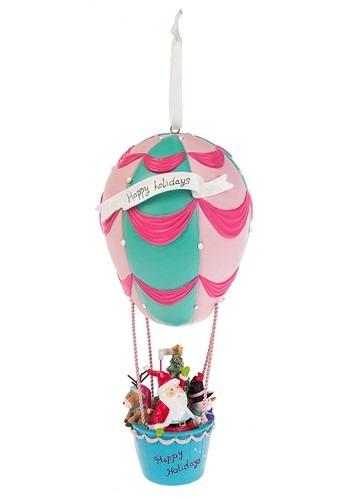 13 Hot Air Balloon Santa Ornament