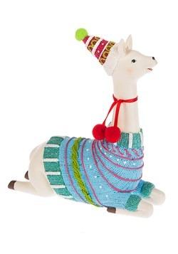 Fa la la la llama Sitting Christmas Decor Figurine alt