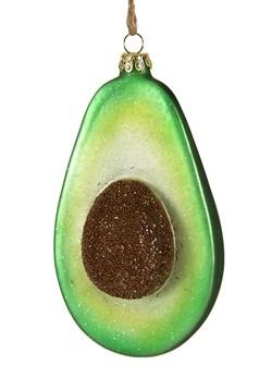 Avocado Glass Christmas Ornament