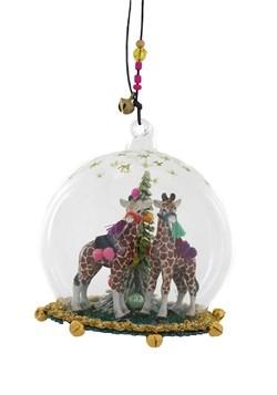 Hanging Fantastical Giraffe Globe Christmas Ornament