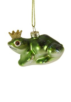 Heraldly Frog Glass Christmas Ornament