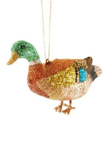 Glass Mallard Duck Ornament
