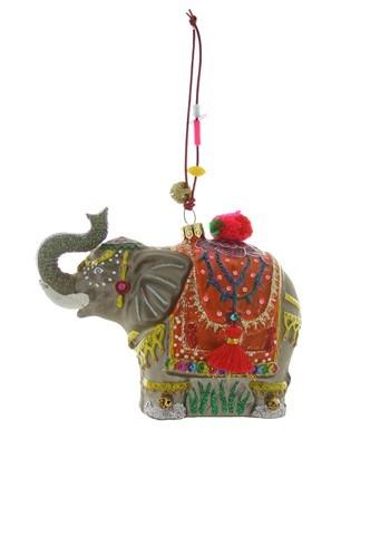 Palace Elephant Glass Christmas Ornament