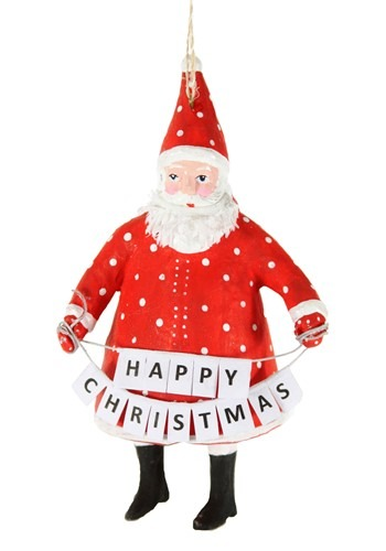 Salutations Santa Christmas Ornament