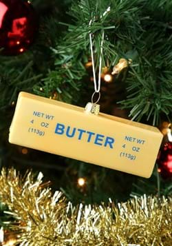 Stick of Butter Glass Christmas Ornament