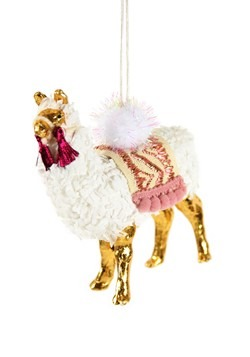 Winter Llama Christmas Ornament