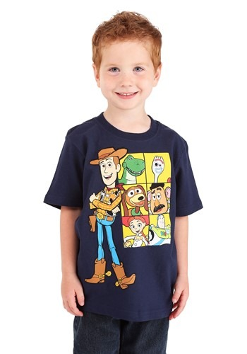 Boys Toy Story 4 Woody & Friends Navy T-Shirt