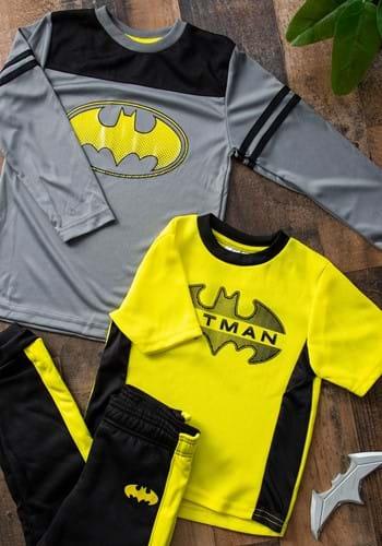 Boys Batman 3pc Shirt Pant Set Active Wear Upd
