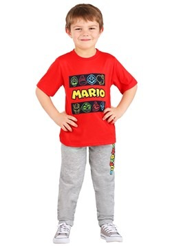 Super Mario 3 Piece Hoodie Shirt and Pant Set for Kids