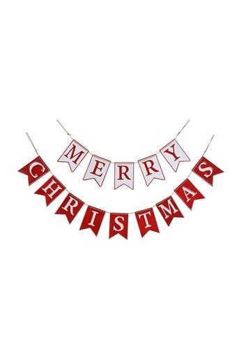 Enamel Metal Merry Christmas Banner