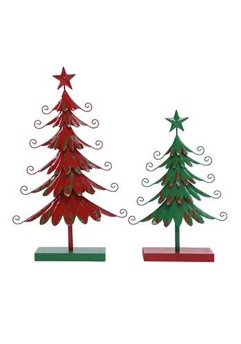 20 Inch Metal Green Christmas Tree