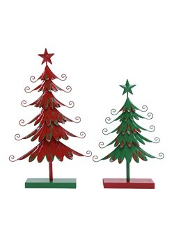 20 Inch Metal Green Christmas Tree