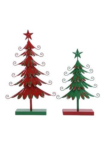 """26"""" Metal Red Christmas Tree"""