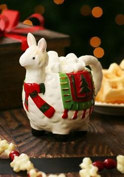 Ceramic Holly Llama Christmas Mug main
