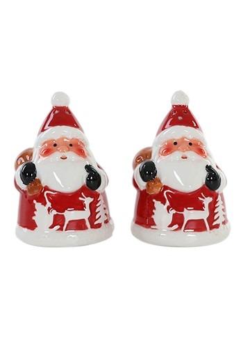 Ceramic Santa Salt and Pepper Shakers Christmas Set