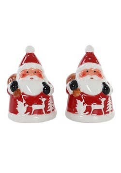 Ceramic Santa Salt and Pepper Shakers Christmas Set