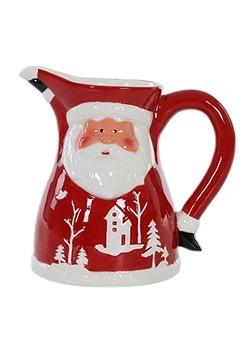 Molded Ceramic Santa Christmas Pitcher