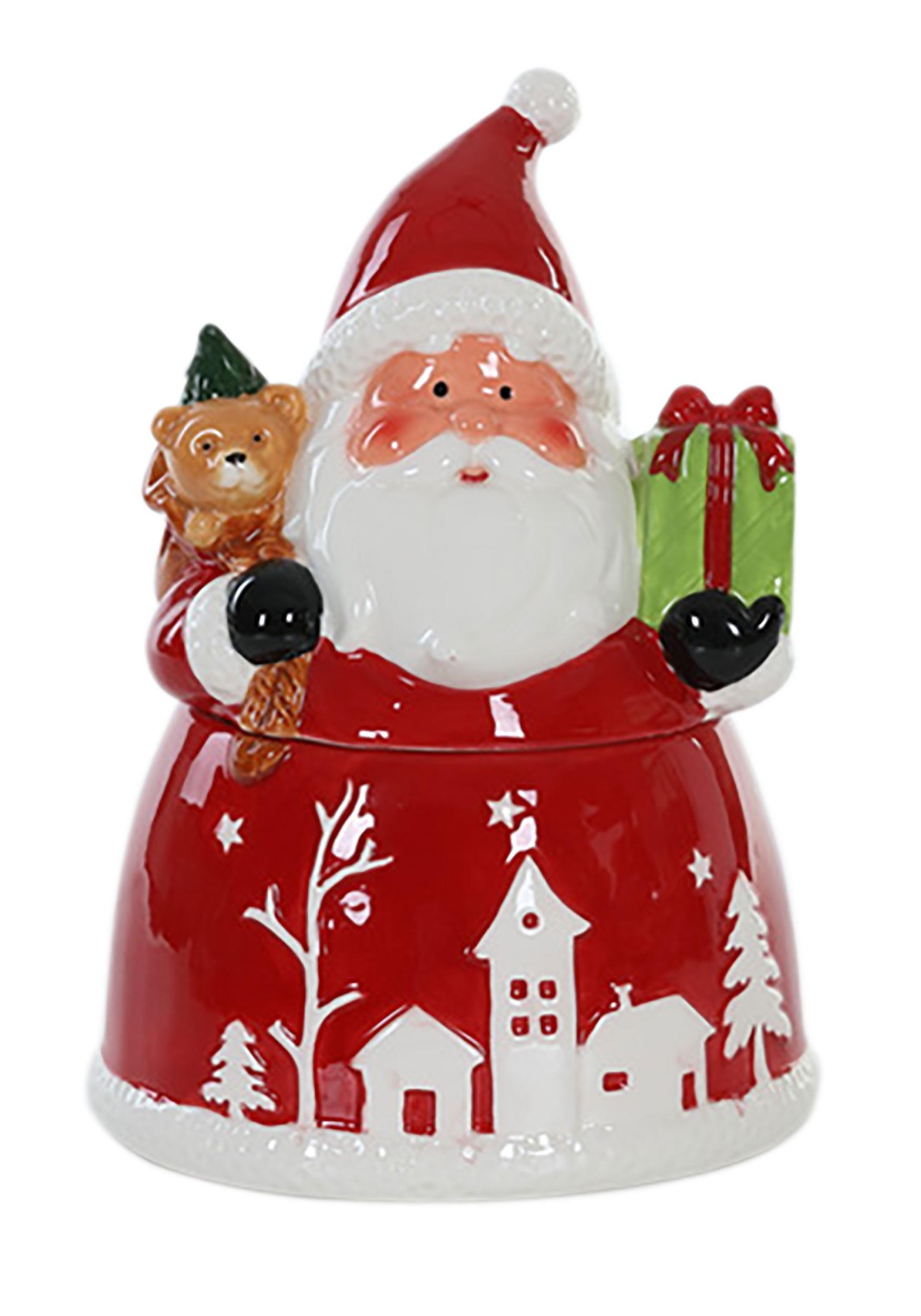 Santa Christmas Ceramic Cookie Jar