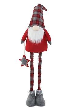 """50"""" Plush Plaid Gnome Christmas Decor w/ Telescope"""