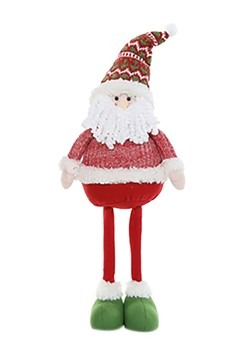 "29"" Plush Festive Santa Christmas Decor w/ Telesco"