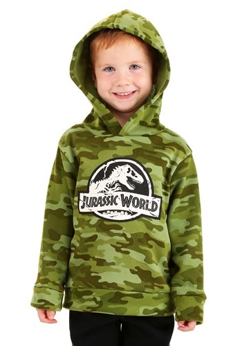 Jurassic World Pullover Hooded Camo Sweatshirt & P