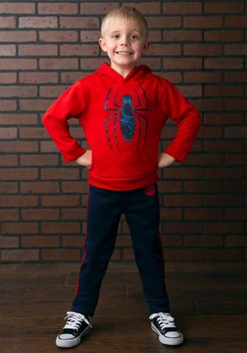 Spider-Man Red Pullover Hooded Sweatshirt & Pant S
