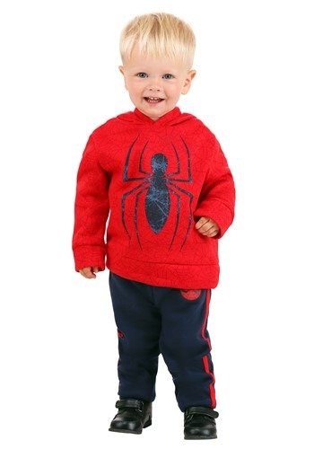 Toddler Spider-Man Pullover Hooded Sweatshirt & Pa