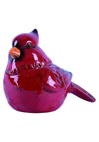 Christmas Cardinal Dolomite Cookie Jar