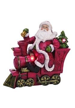 Resin Light Up Christmas Santa w/ Train Decor